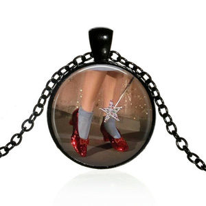Ruby Slippers Wizard of Oz Pendant & Necklace